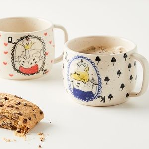Anthropologie Dog Set of two mugs